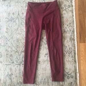 Maroon Warmup Leggings Size S